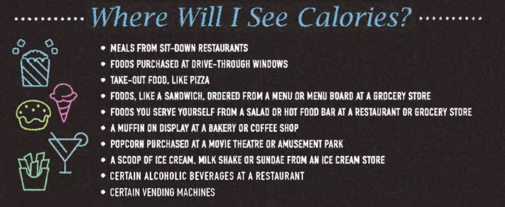 calorie counts