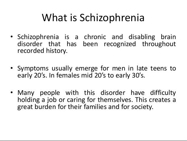 schizophrenia side effects